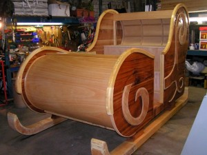 Fabrication du traineau en bois massif