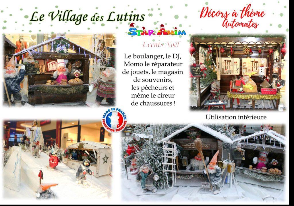village des lutins decors automates