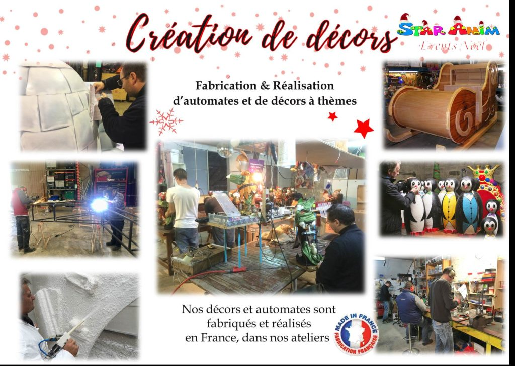 Realisation et creation de decors de noel